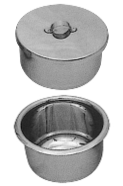 Gallipot with & without lid